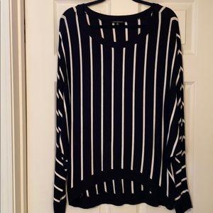 For Cynthia black & white striped bat wing tunic!